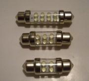 Lampada Torpedo 31mm 36mm 41mm p/ Placa Teto e portas