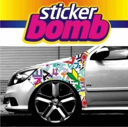 Adesivo Paralama Tunning Sticker Bomb 150 X 90 Cm