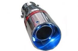 Ponteira Com Led Azul tuning Escapamento Esportiva Universal