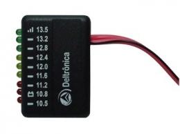 Voltímetro De Bateria Veicular Deltrônica Vb9 9 Leds Medidor