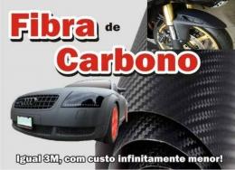 Adesivo Fibra De Carbono 30x50cm Pel�culaTuning