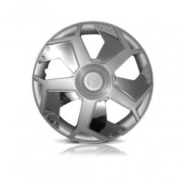 Kit 4 Calota Lamborghini Aro 13 Universal Prata ou Preta