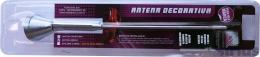 Antena Decorativa Haste Externa P/ Teto Cor Preta ou Cromo 25cm