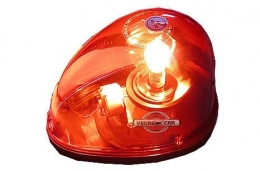 Giroflex vermelho Sinalização Luz De Emergência base ima 12v