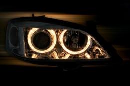 Kit 4 Angel Eyes para Faróis de carro Xenon Palio Gol Corsa Celta fusca