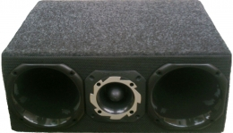Box Caixa Corneteira 1 Tweeter  2 Drive Corneta Capacitor